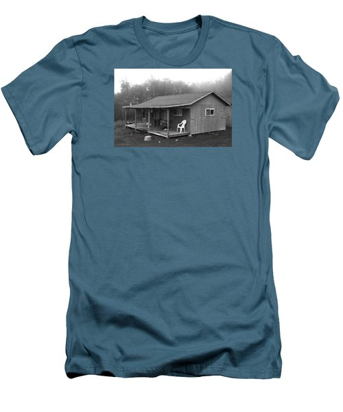 Misty Morning At The Cabin Men's T-Shirt (Slim Fit) by Jose Rojas