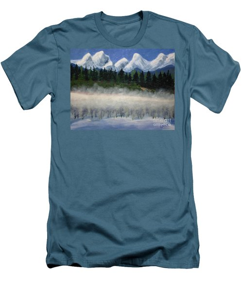 Misty Morning On The Mountain Men's T-Shirt (Athletic Fit)