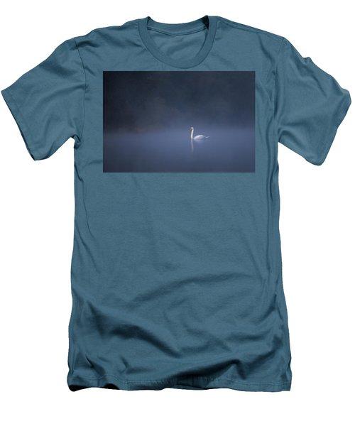 Misty River Swan Men's T-Shirt (Athletic Fit)