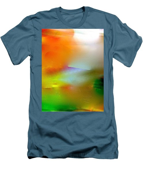 Men's T-Shirt (Slim Fit) featuring the digital art Misty Waters by Patricia Schneider Mitchell