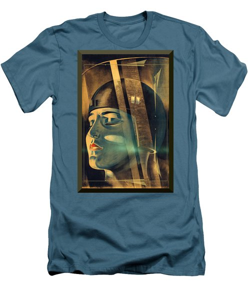 Men's T-Shirt (Slim Fit) featuring the photograph Metropolis Maria Transformation by Robert G Kernodle