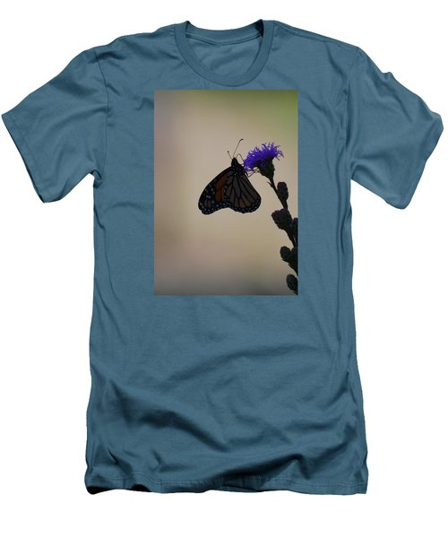 Men's T-Shirt (Slim Fit) featuring the photograph Monarch Beauty by Ramona Whiteaker