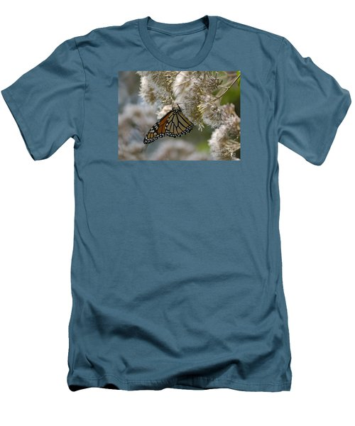 Men's T-Shirt (Slim Fit) featuring the photograph Monarch Pink by Randy Bodkins