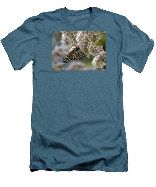 Monarch Pink Men's T-Shirt (Slim Fit) by Randy Bodkins
