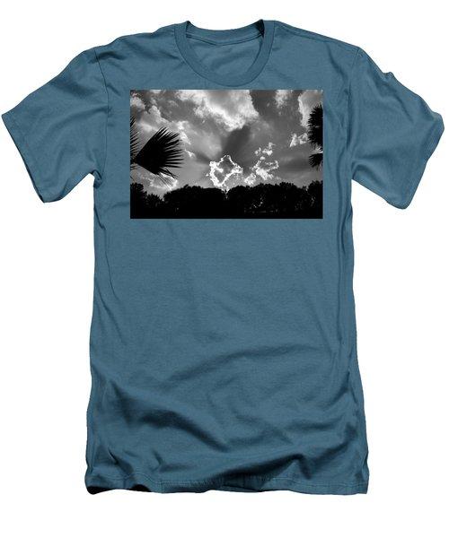 Monochrome Sunburst Men's T-Shirt (Slim Fit) by Eric Liller