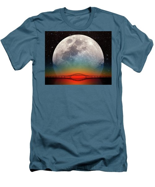 Men's T-Shirt (Slim Fit) featuring the photograph Monster Moonrise by Larry Landolfi