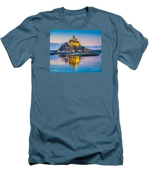 Mont Saint-michel In Twilight Men's T-Shirt (Athletic Fit)