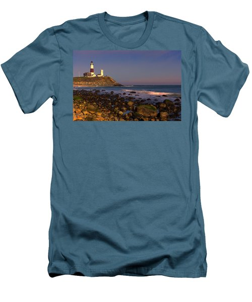 Montauk Lighthouse Men's T-Shirt (Athletic Fit)