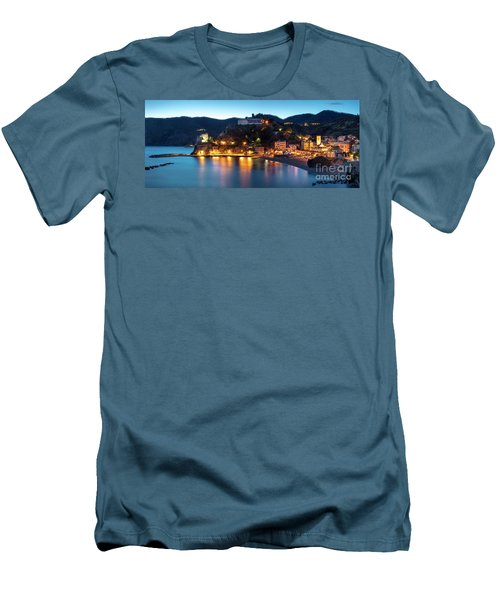 Men's T-Shirt (Slim Fit) featuring the photograph Monterosso Al Mare At Twilight by Brian Jannsen