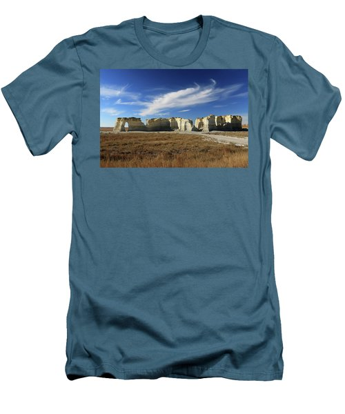 Monument Rock Afternoon  Men's T-Shirt (Slim Fit) by Christopher McKenzie