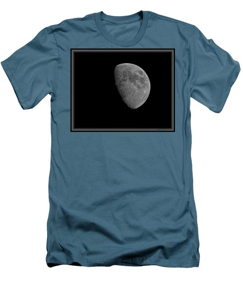 Men's T-Shirt (Athletic Fit) featuring the photograph Moon 67 Percent Fr23 by Mark Myhaver