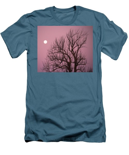 Men's T-Shirt (Slim Fit) featuring the photograph Moon And Tree by Sumoflam Photography