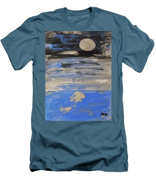 Moon In October Sky Men's T-Shirt (Slim Fit) by Mary Carol Williams
