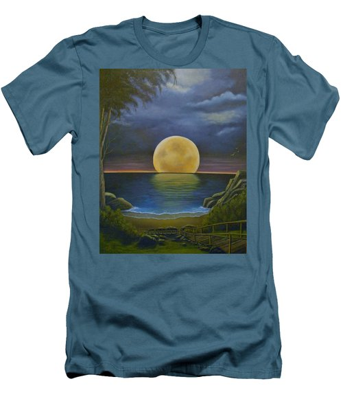 Moon Of My Dreams II Men's T-Shirt (Athletic Fit)