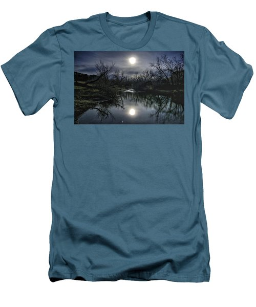 Moon Over Sand Creek Men's T-Shirt (Slim Fit) by Fiskr Larsen
