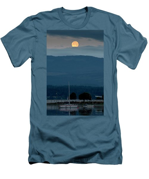 Moon Over The Spit Men's T-Shirt (Athletic Fit)