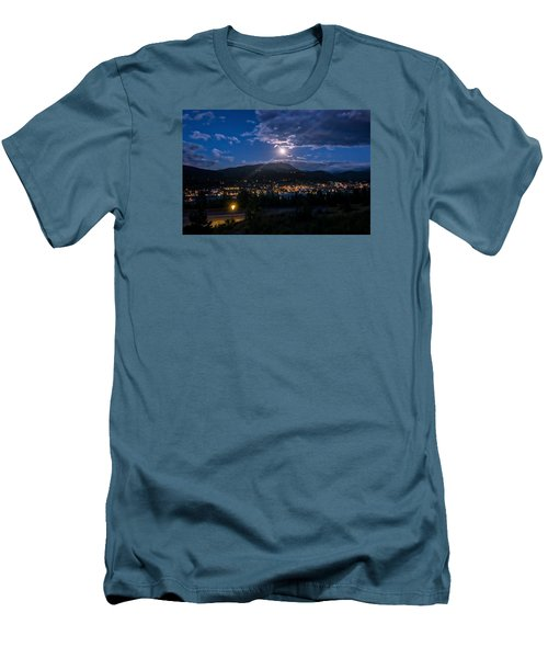 Moon Rising Over Breckenridge Men's T-Shirt (Athletic Fit)