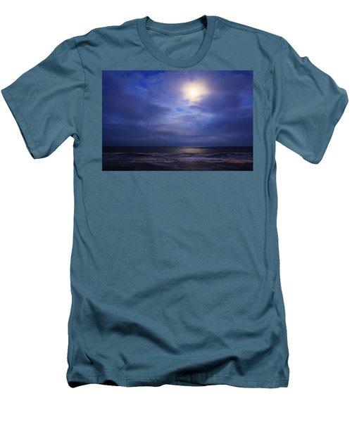 Moonlight On The Ocean At Hatteras Men's T-Shirt (Athletic Fit)
