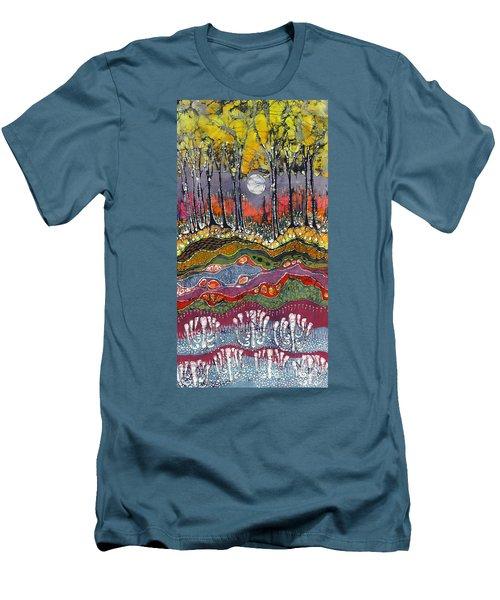 Moonlight Over Spring Men's T-Shirt (Athletic Fit)