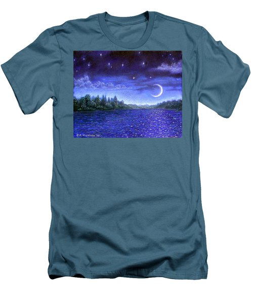 Moonlit Lake Men's T-Shirt (Athletic Fit)