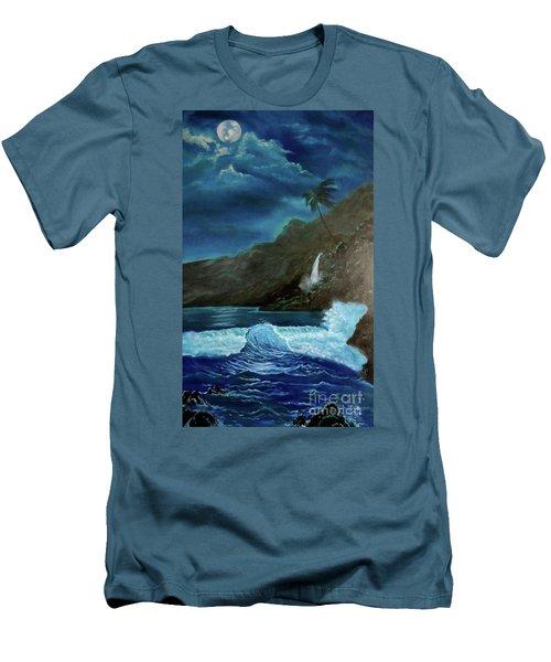Moonlit Wave Men's T-Shirt (Slim Fit)