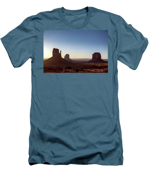 Moonrise Over Monument Valley Men's T-Shirt (Athletic Fit)