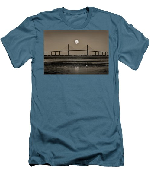 Moonrise Over Skyway Bridge Men's T-Shirt (Athletic Fit)