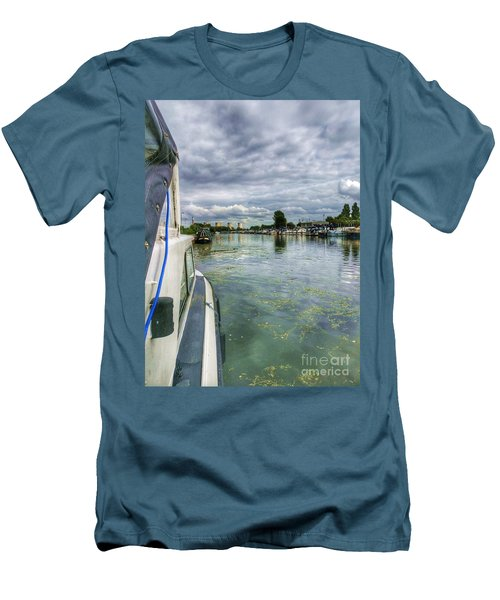 Moored At The Marina Men's T-Shirt (Athletic Fit)