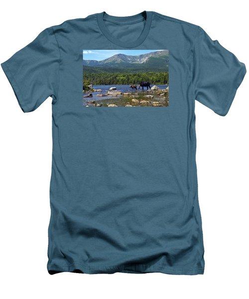 Moose Baxter State Park Maine 2 Men's T-Shirt (Slim Fit) by Glenn Gordon