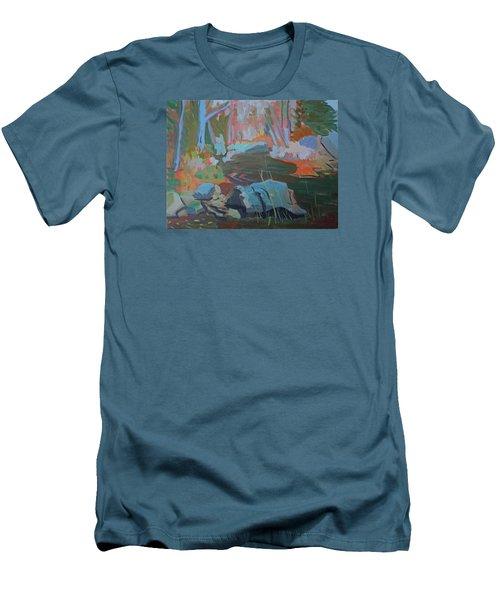 Moose Lips Brook Men's T-Shirt (Slim Fit) by Francine Frank