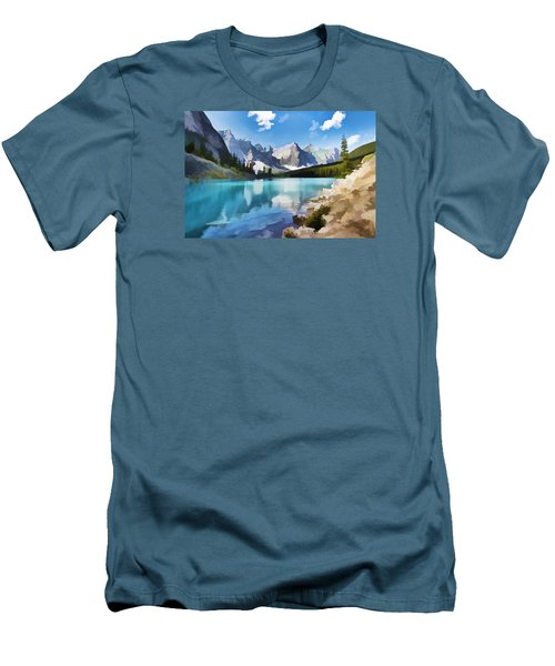 Moraine Lake At Banff National Park Men's T-Shirt (Athletic Fit)