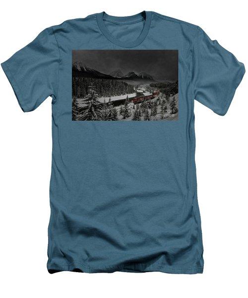Morant's Curve - Winter Night Men's T-Shirt (Slim Fit) by Brad Allen Fine Art