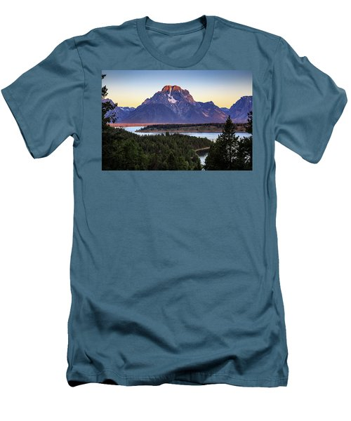 Morning At Mt. Moran Men's T-Shirt (Slim Fit) by David Chandler