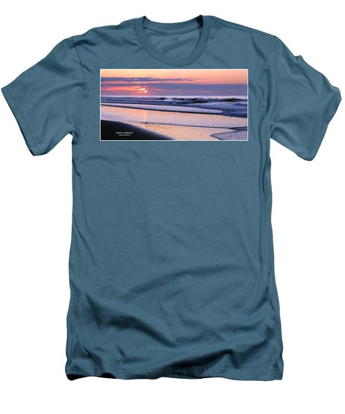 Morning Calm Men's T-Shirt (Slim Fit) by John Loreaux
