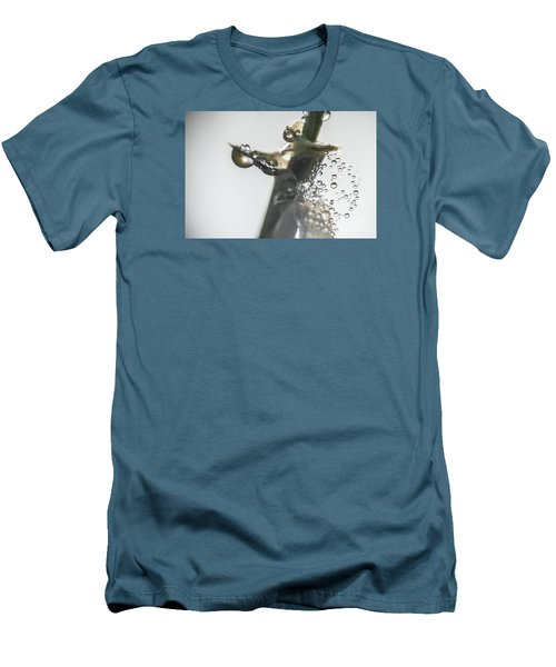 Men's T-Shirt (Slim Fit) featuring the photograph Morning Dew On A Web by Odon Czintos