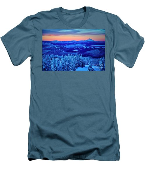 Morning From Timberline Lodge Men's T-Shirt (Athletic Fit)