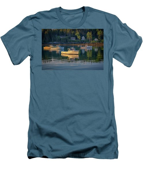 Men's T-Shirt (Athletic Fit) featuring the photograph Morning In Tenants Harbor by Rick Berk