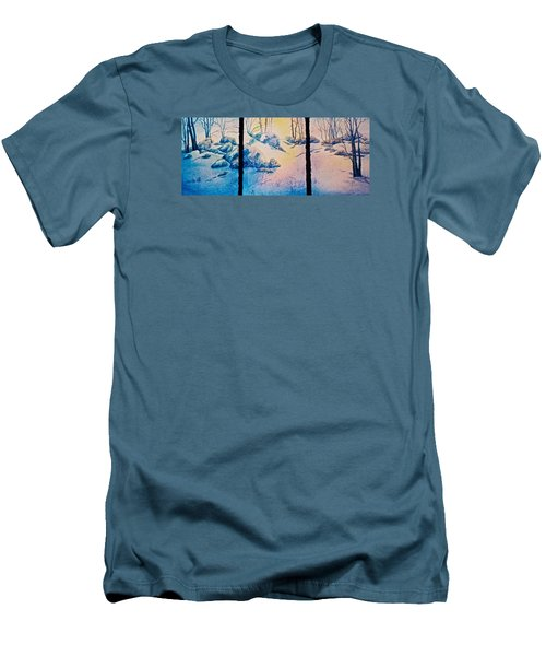 Men's T-Shirt (Slim Fit) featuring the painting Morning Light by Carolyn Rosenberger