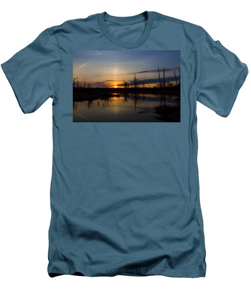 Morning Wilderness Men's T-Shirt (Slim Fit) by Gary Smith