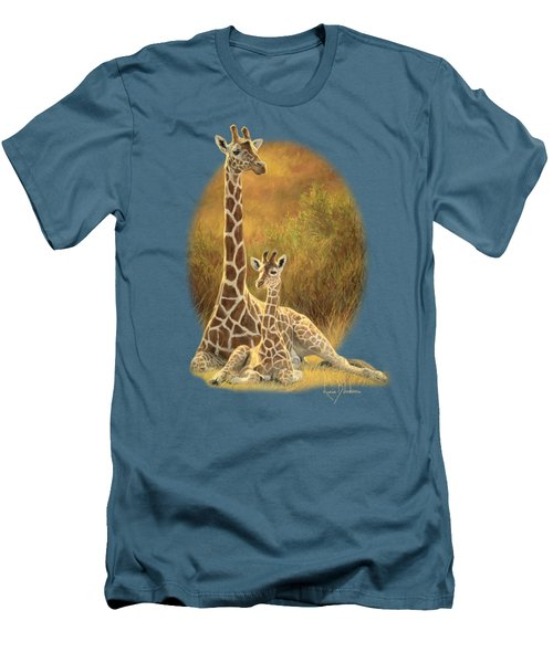 Mother And Son Men's T-Shirt (Slim Fit) by Lucie Bilodeau