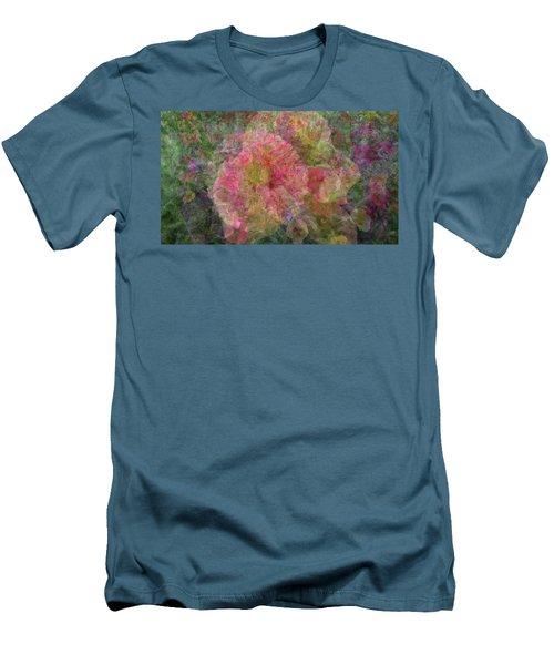 Mottled Pink Collage Pop Men's T-Shirt (Slim Fit) by Kathy Barney