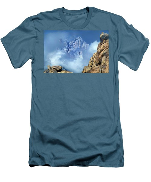 Men's T-Shirt (Slim Fit) featuring the photograph Mount Whitney Clearing Storm Eastern Sierras California by Dave Welling