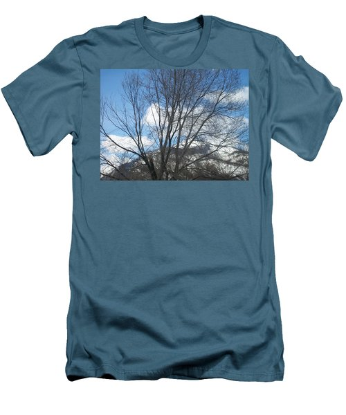 Men's T-Shirt (Slim Fit) featuring the photograph Mountain Backdrop by Jewel Hengen