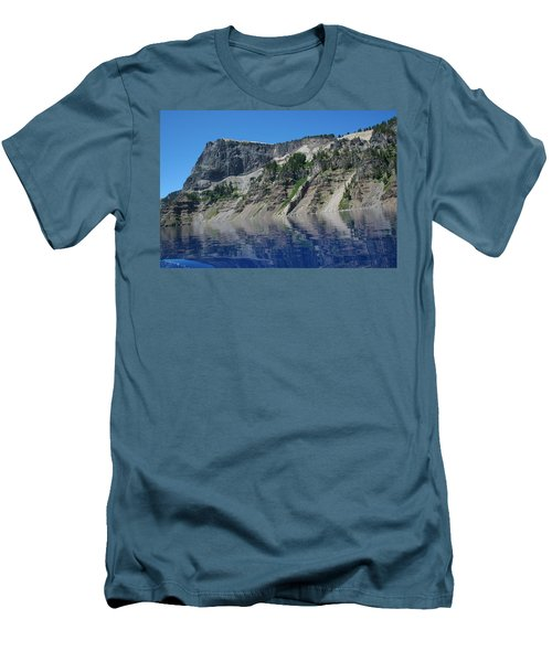Men's T-Shirt (Slim Fit) featuring the photograph Mountain Blue by Laddie Halupa
