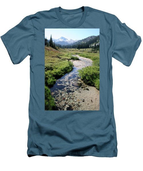 Mountain Meadow And Stream Men's T-Shirt (Athletic Fit)