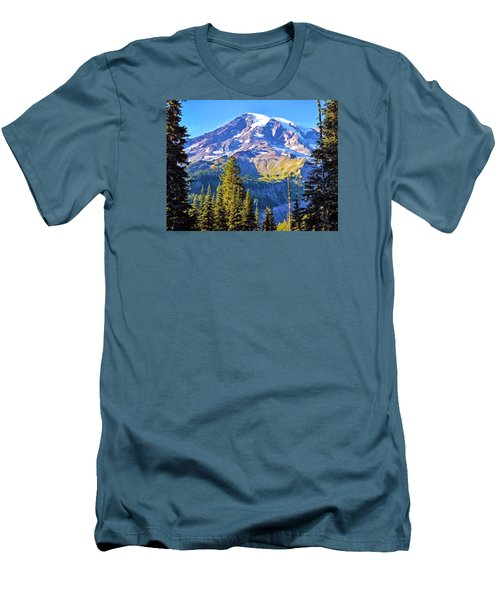 Men's T-Shirt (Slim Fit) featuring the photograph Mountain Meets Sky by Anthony Baatz