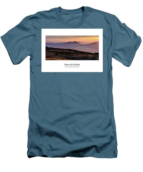 Men's T-Shirt (Slim Fit) featuring the photograph Mountain Mist Poster by Marion McCristall