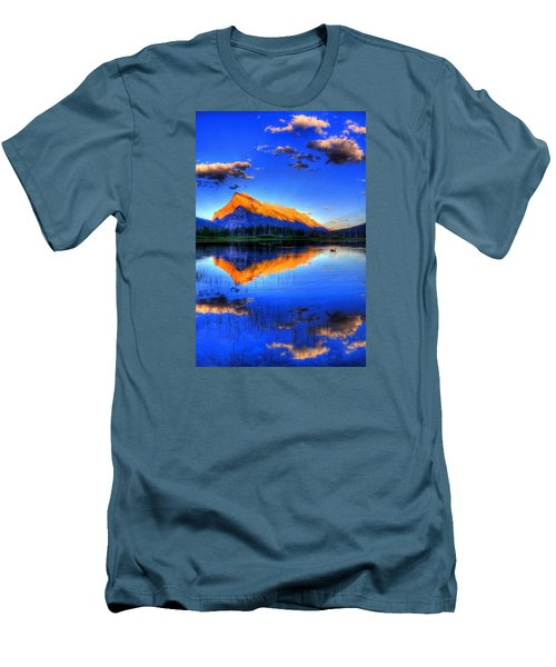Mountain Reflection Men's T-Shirt (Slim Fit) by Sean McDunn