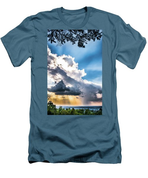 Men's T-Shirt (Slim Fit) featuring the photograph Mountain Sunset Sightings by Shelby Young