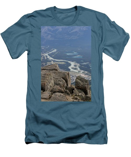 Men's T-Shirt (Slim Fit) featuring the photograph Mountain View by Mary Mikawoz